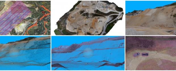 Rilevamenti per valutare l'estrazione delle cave